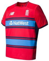 New Balance - England Replica Short Sleeve Tee T20 Cricket Shirt - Lyst