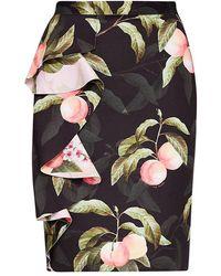 aa4358a50 Ted Baker Kaikai Cascading Floral Pencil Skirt - Lyst
