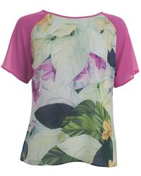 Almost Famous - Print Short Sleeve Top - Lyst