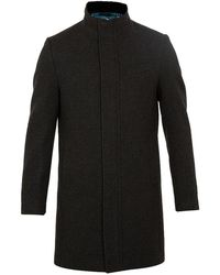 Ted Baker - Cheago Single Breasted Overcoat - Lyst