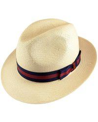4c1dda6d66a9e Catarzi Wide Brim Unstructured Fedora Hat in Black for Men - Lyst
