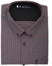Ben Sherman Small Check Long Sleeve Shirt - Multicolour