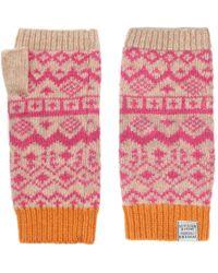 Joules - Elsa Fairisle Knitted Gloves - Lyst