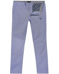 Ted Baker Hollden Textured Chinos - Blue