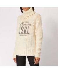 Polo Ralph Lauren - Chunky Roll Neck Sweater - Lyst