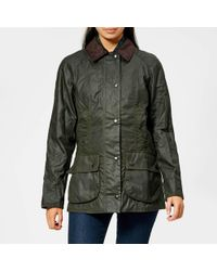 Barbour - Classic Beadnell Waxed-cotton And Corduroy Jacket - Lyst