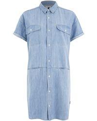 Carhartt - Women's Corry Short Sleeved Denim Shirt Dress - Lyst