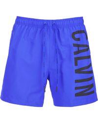 CALVIN KLEIN 205W39NYC - Men's Ck Onelogo Intense Power Swim Shorts - Lyst
