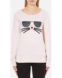 Karl Lagerfeld - Women's Kocktail Choupette Sweatshirt - Lyst