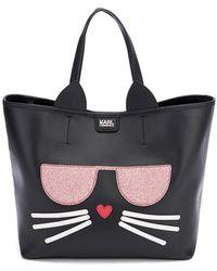 Karl Lagerfeld - Women's K/kocktail Choupette Shopper Bag - Lyst
