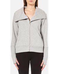 UGG - Women's Pauline Double Knit Fleece Cowl Neck Zip Through Jacket - Lyst