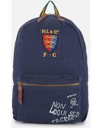 Polo Ralph Lauren - Men s Canvas Logo Backpack - Lyst 8ea473608d