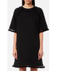 Marc Jacobs - Women's Sweatshirt Dress With Pom Poms - Lyst