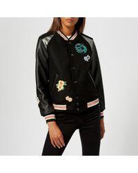 COACH - Women's Disney X Coach Varsity Jacket - Lyst
