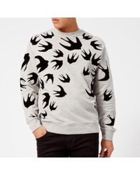 McQ - Men's Swallow Swarm Flock Clean Crew Neck Sweatshirt - Lyst