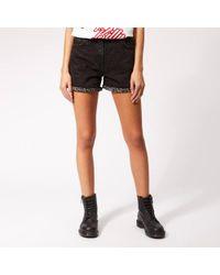 McQ - Women's Denim Hotpants - Lyst