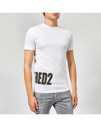 DSquared² - Hem Logo T-shirt - Lyst