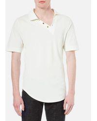 Vivienne Westwood - Man Men's Basic Pique Asymmetric Polo Shirt - Lyst