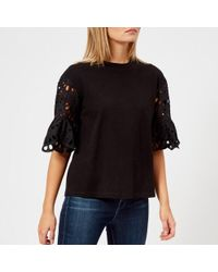See By Chloé - See By Chloe Women's Detailed Sleeve Tshirt - Lyst