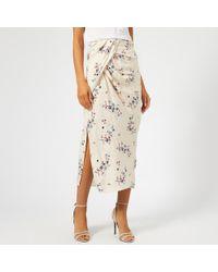 KENZO - Printed Flowers Skirt - Lyst