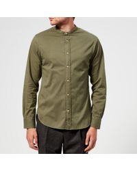 Officine Generale - Men's Gaspard Pigment Dyed Twill Shirt - Lyst