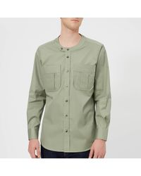 Vivienne Westwood - Firm Poplin Military Low Neck Shirt - Lyst