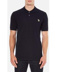 PS by Paul Smith | Men's Regular Fit Zebra Polo Shirt | Lyst