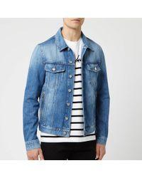 6ee4db2b Balmain Classic Denim Jacket in Blue for Men - Lyst