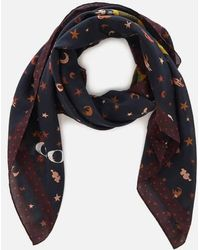 COACH - Women's Rexy Patchwork Oversized Square Scarf - Lyst