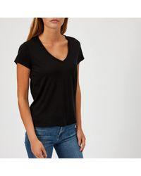 J Brand - Janis V Neck T-shirt - Lyst