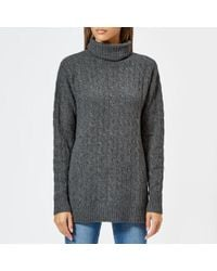 Polo Ralph Lauren - Cable Knit Roll Neck Jumper - Lyst