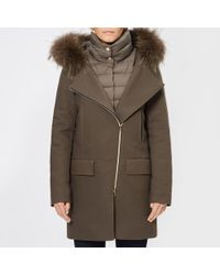 Herno - Women's Wool Coat With Fur Collar - Lyst