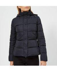 Emporio Armani - Short Hooded Puffa Jacket - Lyst