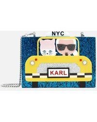Karl Lagerfeld   Women's Nyc Taxi Minaudiere Bag   Lyst