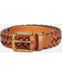 Polo Ralph Lauren - Westend Braid Leather Belt - Lyst