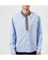 OAMC - Men's Rib Collar Shirt - Lyst