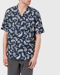 Wooyoungmi - Men's Paisley Print 50s Collar Short Sleeve Shirt - Lyst