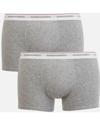 DSquared² - Men's Jersey Cotton Stretch Trunk Twin Pack Boxers - Lyst