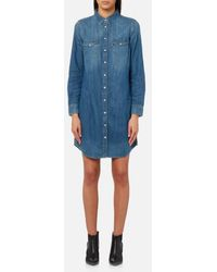 Levi's - Women's Iconic Western Shirt Dress - Lyst