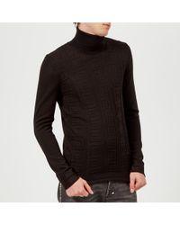 Versace Roll Neck Knit Sweater