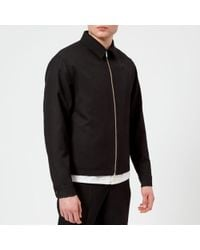 Lemaire - Men's Wool Gabardine Short Blouson Jacket - Lyst