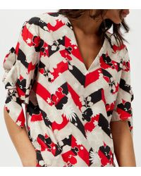 Maison Kitsuné - Women's All Over Venice Trudy Knotted Top - Lyst