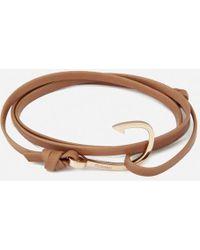 Miansai - Men's Leather Bracelet With Rose Hook - Lyst