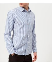 Eton of Sweden - Men's Slim Fit Striped Single Cuff Shirt - Lyst