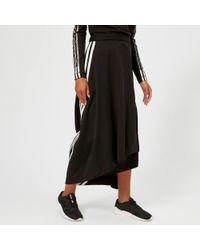 Y-3 - 3 Stripe Drape Skirt - Lyst