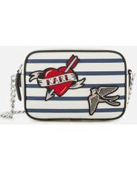 Karl Lagerfeld   Women's Captain Karl Cross Body Bag   Lyst
