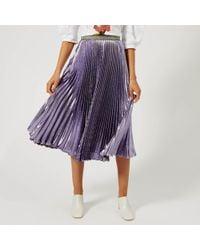 Christopher Kane - Lame Pleated Skirt - Lyst
