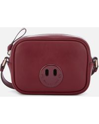 3f32551474ae Hill & Friends Happy Mini Textured-leather Shoulder Bag - Lyst