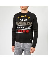 DSquared² - Logo Knitted Jumper - Lyst
