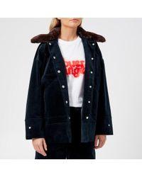 Ganni - Women's Ridgewood Coat - Lyst